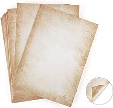 100 hojas de papel de diseño de aspecto antiguo DIN A4 120 g/m2 ABSOFINE DIY Offset Printing