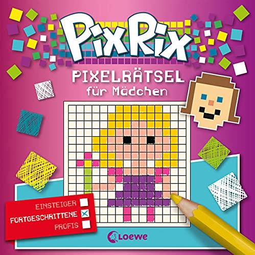 Pix Rix: Pixelrätsel für Mädchen: Rästelbuch für Fortgeschrittene ab 7 Jahre