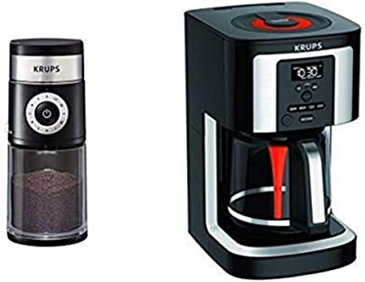 KRUPS GX550850 Precision Grinder AND KRUPS, EC322, 14-Cup Programmable Coffee Maker