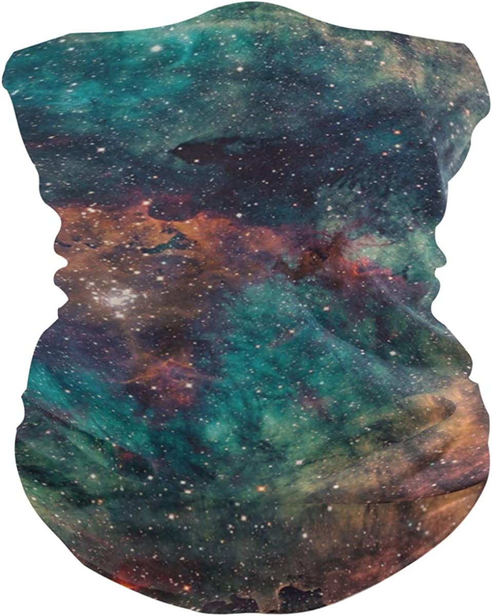 MNSRUU Neck Gaiter Portable Neck Cover Man Woman Nebula And Galaxies In Deep Space Balaclava Face Cover Scarf For Winter Warmer