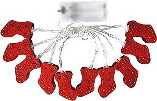 Staright 5,4 pés 10LEDs LED Fairy String Luzes Natal Decorativas Luzes PenduraDas LâmpaDas Quentes Brancas Meias Vermelhas...