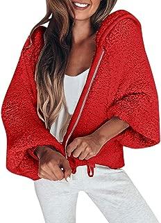 Crazy Women Hooded Zipper Pullover Blouse Shirts Coat Sweatshirt