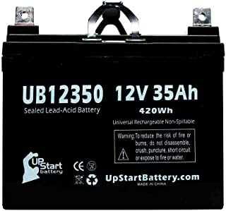 Kubota UB12350 Universal Sealed Lead Acid Battery Replacement (12V, 35Ah, 35000mAh, L1 Terminal, AGM, SLA) - Compatible with Kubota 2411G, 2412H, 2413H, 2414H, 2512G, 2512H, 2514G, 2514H, 2515H, 2517H