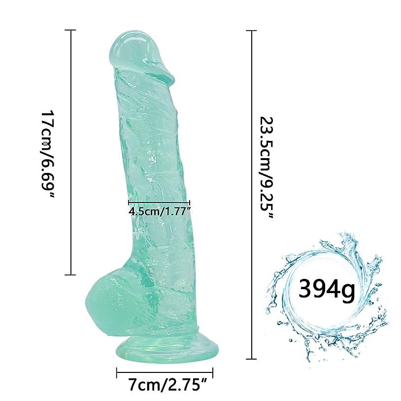 議論する支払いベーカリーHZDSBH 9.25インチの巨大なペンのおもちゃ初心者のための強い吸引カップでハンズフリープレイ - 完璧な大人の女性の喜びのおもちゃ