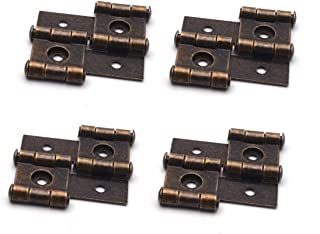 Antrader 2-Inch Retro Style Folding Double Acting Screen Hinge,Bronze Tone, Pack of 4