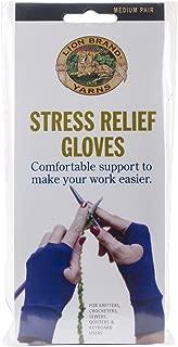 Lion Brand Yarn 400-5-1302 Stress Relief Gloves, 1-Pair, Medium