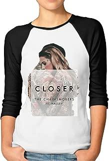 Womens Chainsmokers Halsey's Closer Jerseys Baseball Raglan T Shirts