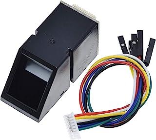 QBLDX Módulo Sensor De Lector De Huellas Dactilares AS608 Módulo óptico De Huellas Dactilares para La Interfaz De Comunica...