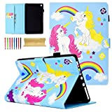 All-New Amazon Fire HD 8 Tablet 2018/2017/2016 Case, Coopts Ultra Lightweight Slim Shell Standing Cover with Auto Wake/Sleep for Fire HD 8-inch Tablet (8th/7th/6th Generation), Colourful Horse