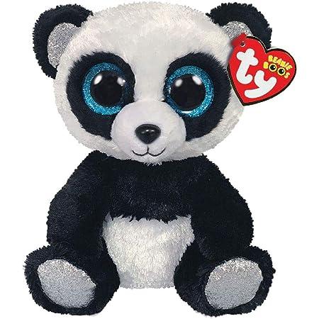 Ty - Beanie Boo's - Peluche Bamboo le Panda, TY36327, Noir / Blanc, 15 cm