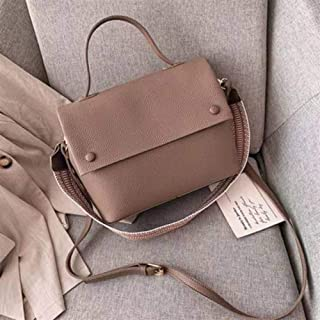 Ladies Casual Large Capacity Buckets Bag Designer Cover Shoulder Crossbody Bag Luxury Matte Pu Handbags Wide Striped Strap Purses