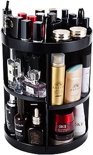 JADREAM Rotating Makeup Organizer, Black 6 layers adjustable Large Makeup Organizer