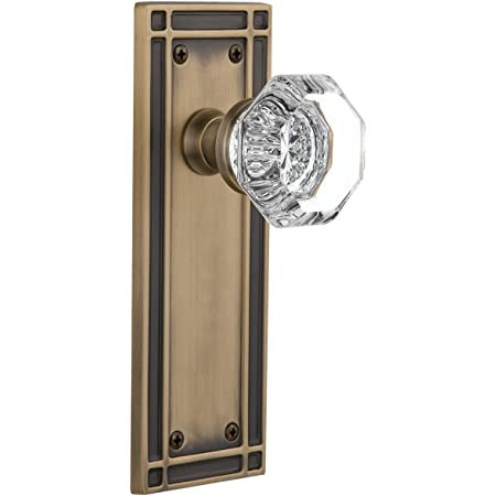Nostalgic Warehouse Mission Plate With Waldorf Crystal Knob Privacy 2 75 Antique Brass Amazon Com