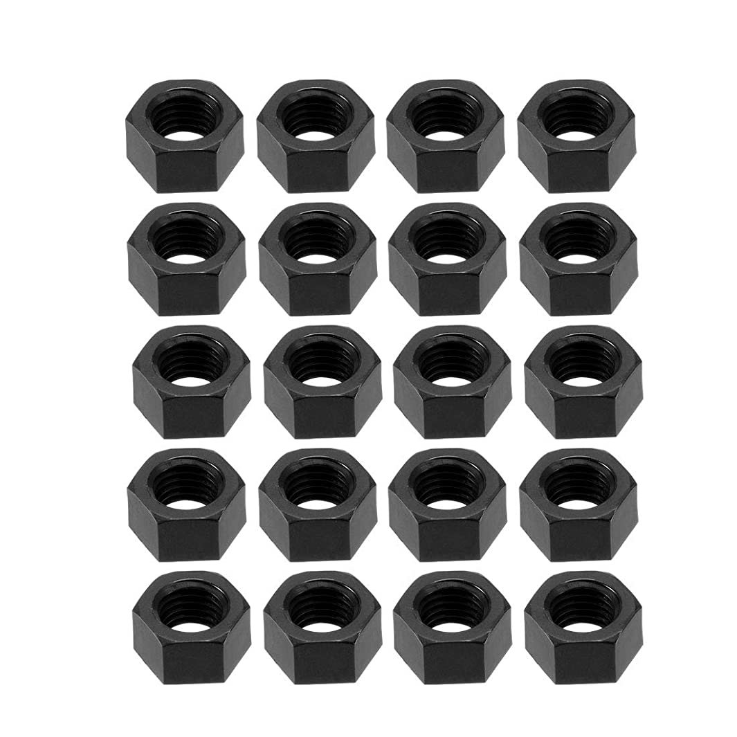 uxcell Nylon Hex Nut, M12x1.5mm Metric Coarse Thread Hexagon Nuts, 25 Pcs (Black)