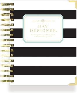 $54 » Sponsored Ad - Day Designer 2022 Mini Daily Monthly Planner, January - December, Durable Black Stripe Hardcovers, Spiral B...