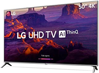 "Smart TV 4K 50"", UHD, ThinQ AI, webOS 4.0, Design Slim, DTS Virtual X, Sound Sync, HDMI USB, LG, 50UK6510PSF"