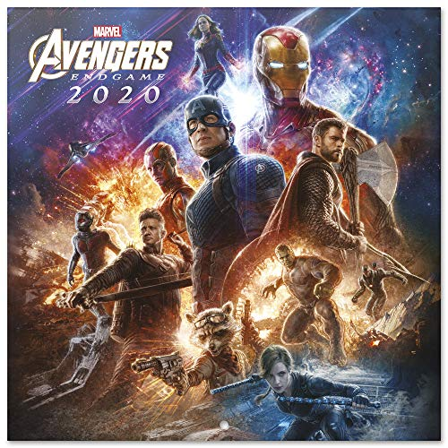 ERIK - Marvel Avengers 2020 Wall Calendar (Free Poster Included), 12 Months, 30 x 30cm