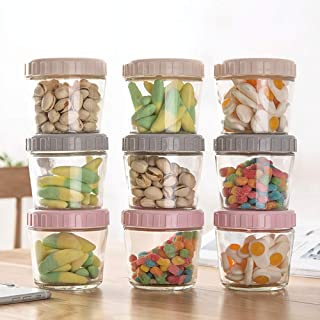 3PCS Glass Jars with Airtight Lids,Glass Jar Wide Mouth Candy Vase box Storage with Airtight Lids Leak Proof,Reusable Safe...