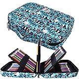 JAKAGO - Astuccio per 220 matite colorate, grande capacità, multistrato, impermeabile, per pastelli acquerellabili, pennarelli e penne gel, ottimo regalo per studenti di arte L Panda