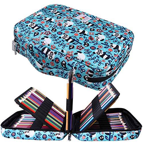 JAKAGO - Astuccio per 220 matite colorate, grande capacità, multistrato, impermeabile,...