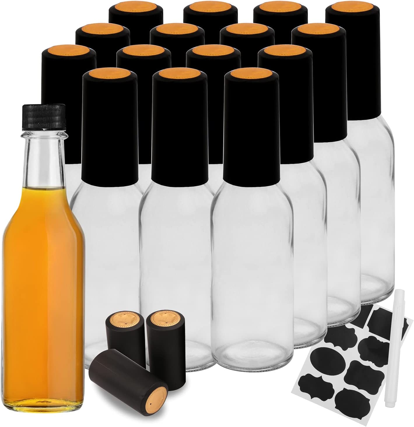Hot Safety and trust Sauce Soldering Bottles with Black Caps Maredash gla pack empty 16 5oz