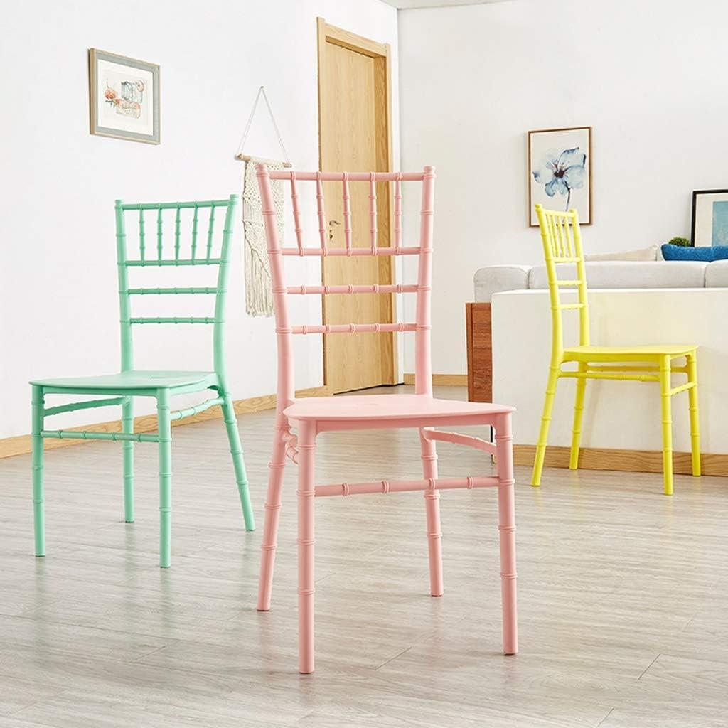 WDX- Chaise de Salle, Chaise de Bureau Simple, créative Dossier, Chaise Loisirs, Maison Adulte Chaise de Salle Confortable (Color : White) Pink