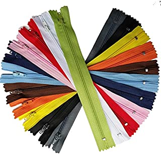 MIX 55pcs Nylon Coil Zippers Zipper Kits Tailer Sewing Tools Craft 11 Colorstotal length 9 Inche (zipper size 8 inch)