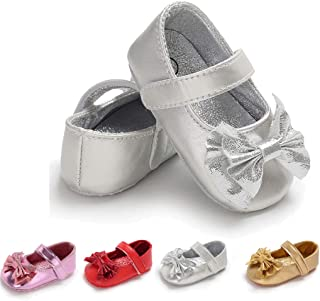 LAFEGEN Baby Girl's Mary Jane Flats Shoes PU Leather Infant Non-Slip Sole Newborn Princess First Walker Shoes
