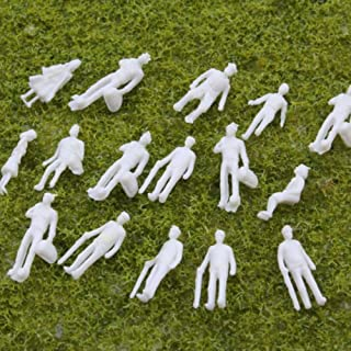 1:100 Scale HO Gauge Model Railway White Unpainted Figure People (Pack of 100)