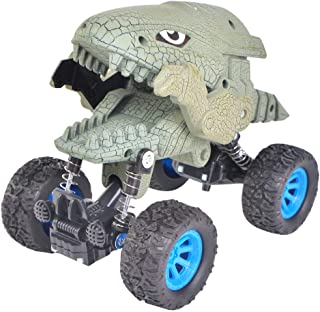 Dinosaur Monster Truck Toys,Toddler Die-cast Pull Back Car Toys with Spring & Big Rubber Tires,Graffiti Kids Vehicle for Aged 3 and Above Boys & Girls Gift