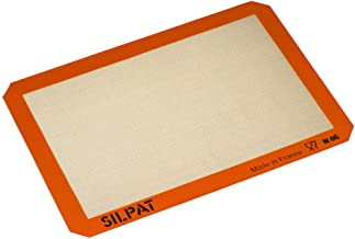"Silpat AE420295-07 Premium Non-Stick Silicone Baking Mat, Half Sheet Size, 11-5/8"" x 16-1/2"""