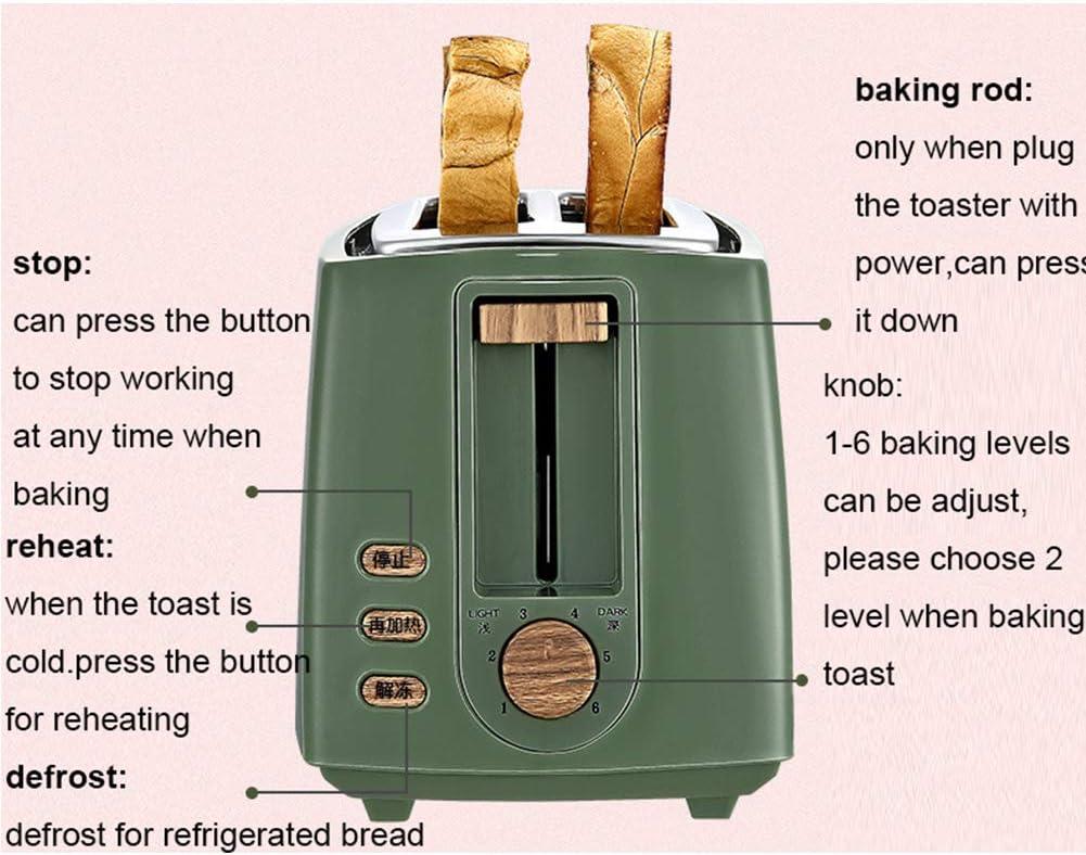 Elitte Machine à Pain, Mini Grille-Pain Four Électrique Cuisson Cuisine Machine à café avec 2 Plaques Antiadhésives Green