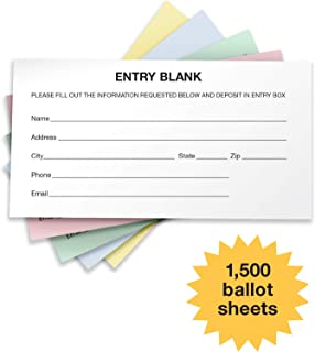 1500 Entry Forms - Includes 15 Blank Raffle Ticket Pads - Perfect for Contest Entry Forms, Raffles, Ballots, Giveaways, Leads, Drawings (Combo)