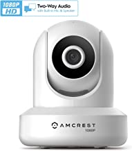 Amcrest 1080p WiFi Camera Indoor, 2MP Pan/Tilt Home Security Camera, Auto-Tracking, Motion & Audio Detection, Privacy Mode, Enhanced Browser Compatibility, H.265, Two-Way Talk IP2M-841W-V3 (White)