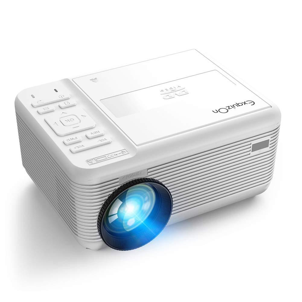 ZXGHS LCD Proyector De Cine En Casa, 1920 * 1080P Proyector/LED DVD TV Portátil Proyector HD/Cine En Casa DVD De Soporte/VCD/CD Función De Disco con USB TF HDMI AV: Amazon.es: Hogar