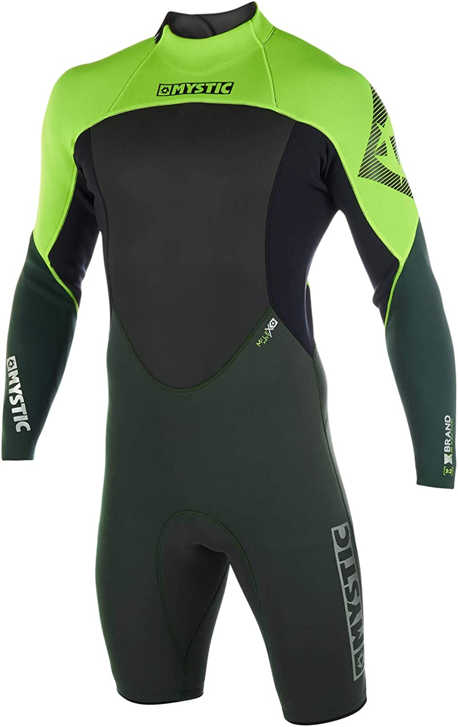 Mystic Brand 3 2mm Back-Zip Longarm Shorty Wetsuit 2019Teal