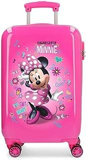 Disney Minnie Stickers Valise Trolley Cabine Rose 34x55x20 cms Rigide ABS Serrure à combinaison 32L 2,5Kgs 4 roues doubles...