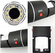 rebirthesame 1600X - Microscopio portátil 2 en 1 (USB, portátil, con microscopio, reconocimiento electrónico)