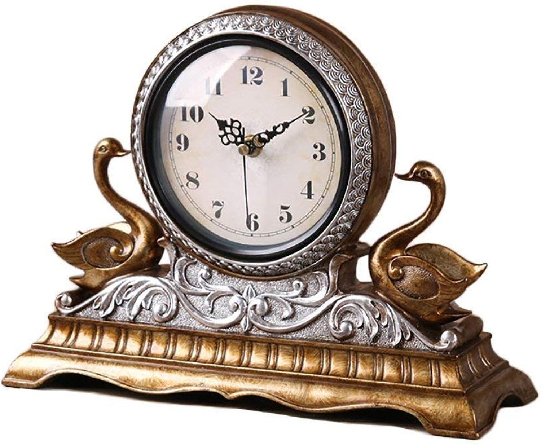 GCCI Tischuhr kreative kreative kreative Uhr Uhr im Wohnzimmer europäischen Mode Tischuhr personalisierte Uhr stumm Retro-Uhr B07BJ692T3 | Ausgewählte Materialien  9d2b54