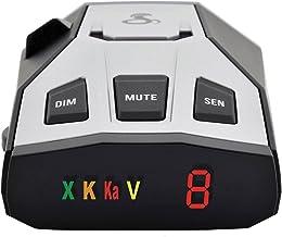 Cobra RAD 350 Laser Radar Detector - Long Range, False Alert Filter, OLED Display, Black