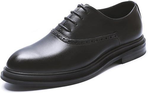 ZPFME Chaussures Habillées Pour Hommes En Cuir Brogues Formelles Chaussures De Mariage Classique à Lacets Oxford Pour Hommes D'affaires Chaussures