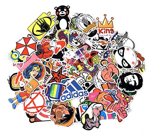 Neuleben Aufkleber Pack [100-pcs] Graffiti Sticker Decals Vinyls für Laptop, Kinder, Autos, Motorrad, Fahrrad, Skateboard Gepäck, Bumper Sticker Hippie Aufkleber Bomb wasserdicht (Serie-3)