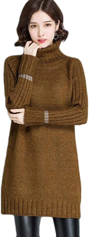 BlingGlri Women's Fashion Knit Turtleneck Knit Beaded Sweater