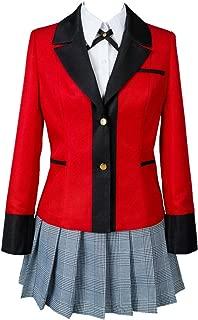 Jabami Yumeko Costume Kakegurui Compulsive Gambler Halloween Cosplay Hyakkaou Private Academy School Uniform Dress