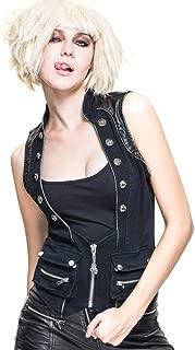 Steampunk Women Vests Waistcoats Gothic Rock Rivet Motorcycle Vest Sleeveless Tops