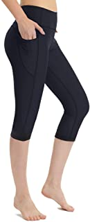 Zeronic Women's High Waist Yoga Pants with Pockets Printed Leggings Workout Running 4 Way Stretch Pattern Yoga Leggings