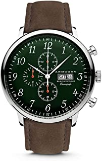 Spirit of St. Louis - Emeral Green - Men's Chronograph Watch Suede Leather Strap
