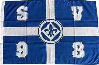Flaggenfritze Flagge SV Darmstadt 98 Kreuz - 60 x 90 cm  gratis Aufkleber
