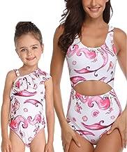 Mommy and Me Swimsuits High Waisted Ruffled Tankini Set Womens Girls 2 Pcs Family Matching Swimwear Back to School