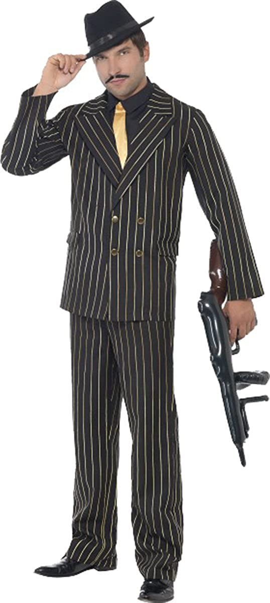 Smiffys Mens Fancy Party Dress Gold Pinstripe Cowboy Large special Sale Special Price price Indian Gang